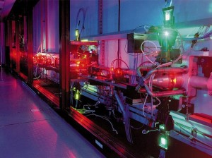 STFC-funded zone scientists have included those working with lasers, image is an AVLIS laser by LeastCommonAncestor for Wikimedia