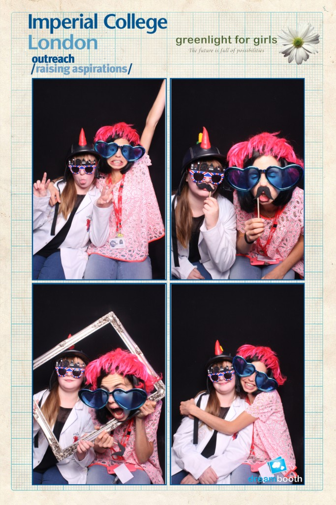 Me and a new friend make the most of the photo booth provided by my prize money