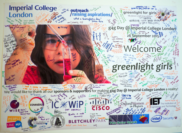 Our g4g banner signed by every girl who attended!