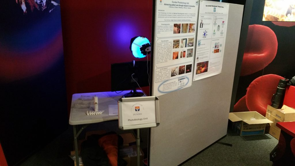 The UV camera all set up at the Dundee Science Festival