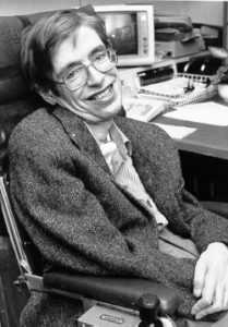 Stephen Hawking (Courtesy NASA StarChild) Image: Wikimedia